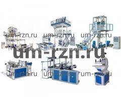 Экструдеры для полиэтилена, пакетоделательные машины, станки для пакетов с боковым швом ковым ом