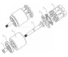 Гидромотор bmf35, bmf55, bmf75, bmf105, bmf104 linde.