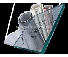 Пленка защитная и противоосколочная прозрачная/цветная разной адгезии