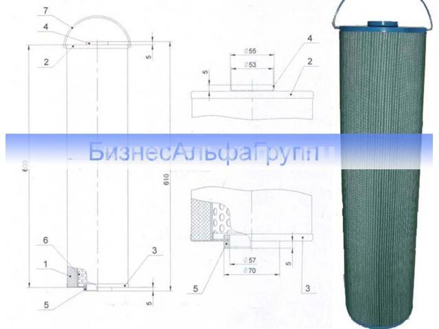 Фильтрующие элементы ФП-3ПС, ФП-3ПП, ФП-2ПС, ФП-2ПП, ЭФВ - 2/2
