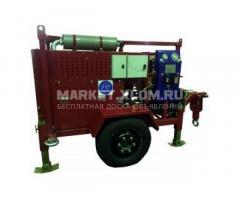 Гидравлическая кабельная бензиновая траншейная лебедка ЛСИ.50Т 50 кН