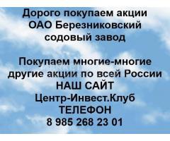 Покупаем акции ОАО Березниковский содовый завод